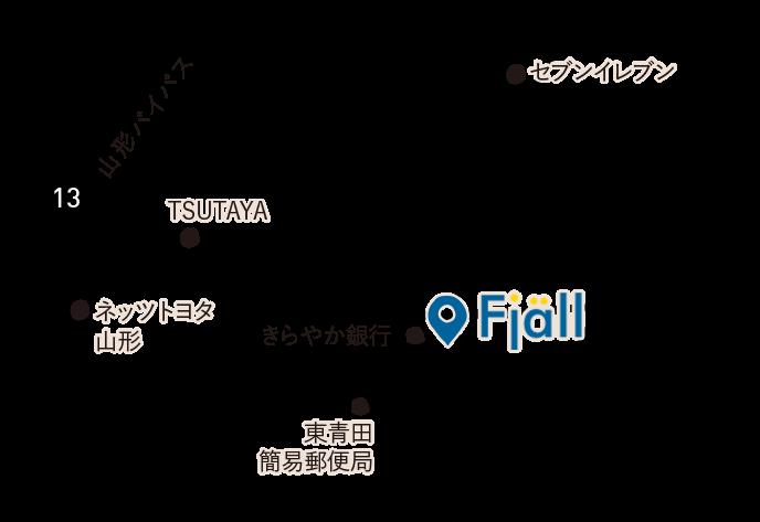アクセスマップ 山形県山形市東青田3丁目8-2